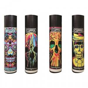ACCENDINI CLIPPER LARGE SKULLS  48 PZ