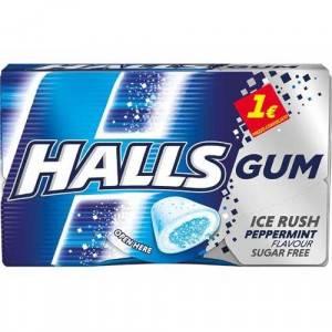 HALLS GUM PEPPERMINT 16 PZ